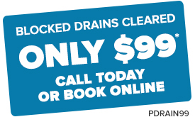 PDRAIN99 blocked drains cleared only $99
